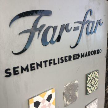 Far-far fliser - Akrylskilt