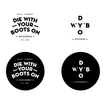 Logo made for record label Die With Your Boots On in 2019