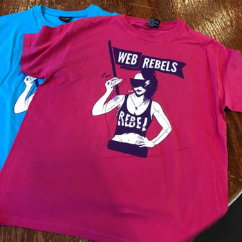 Web Rebels T-shirts - Screen printed