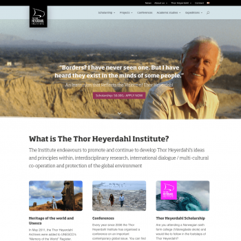 The Heyerdahl Institute Website Homepage