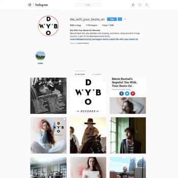 DWYBO Instagram page